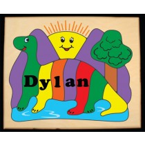 Personalized Name Dinosaur Sun Theme Puzzle (FREE SHIPPING)