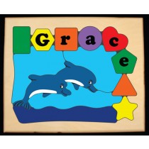 Personalized Name Dolphin Theme Puzzle - (FREE SHIPPING)