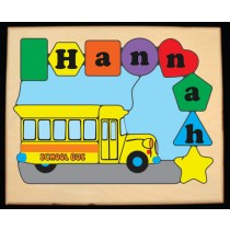 Personalized Name School Bus Theme Puzzle - (FREE SHIPPING)