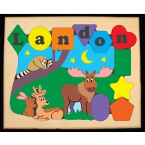 Personalized Name Northern Forest Animals Theme Puzzle - (FREE SHIPPING)