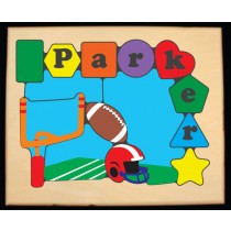 Personalized Name Football Theme Puzzle - (FREE SHIPPING)