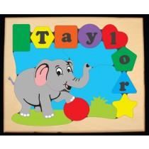 Personalized Name Elephant Theme Puzzle - (FREE SHIPPING)