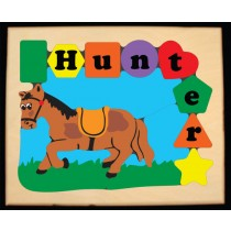 Personalized Name Horse Theme Puzzle - Primary (FREE SHIPPING)