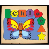 Personalized Name Butterfly Theme Puzzle - Primary (FREE SHIPPING)