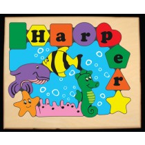 Personalized Name Under Water Fish World Puzzle (FREE SHIPPING)