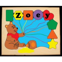 Personalized Name Honey Bear Theme Puzzle- Primary (FREE SHIPPING)