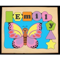 Personalized Name Butterfly Theme Puzzle - Pastel (FREE SHIPPING)