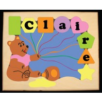 Personalized Name Honey Bear Theme Puzzle - Pastel (FREE SHIPPING)