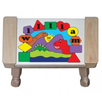 Personalized Name Three Dinosaurs Theme Puzzle Stool (FREE SHIPPING)