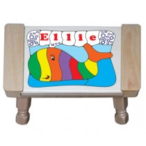Personalized Name Whale Theme Puzzle Stool (FREE SHIPPING)