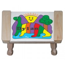 Personalized Name Dino Sun Theme Puzzle Stool (FREE SHIPPING)