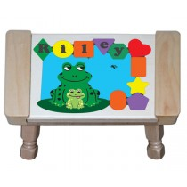 Personalized Name Frog Theme Puzzle Stool (FREE SHIPPING)