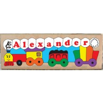 Personalized Name Long Train Theme Puzzle (FREE SHIPPING)