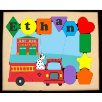 Personalized Name Fire Truck Theme Puzzle (FREE SHIPPING)