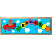 Personalized Name Long Plane Theme Puzzle (FREE SHIPPING)
