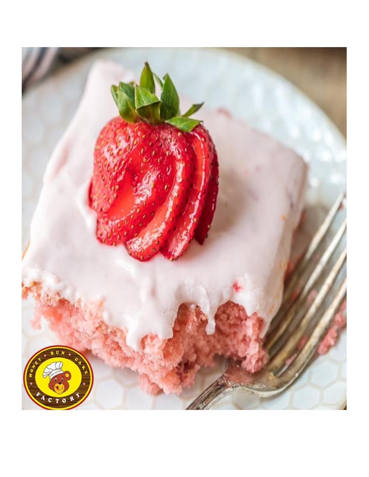 Honey Bun Strawberry Henny Cake