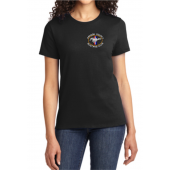 Womens Reg Tee Black Front
