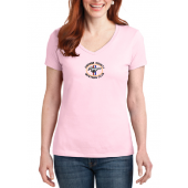 S04V Womens V-NECK Pale Pink