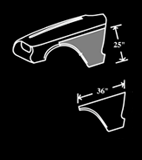 58-60 Front Fender Bottoms