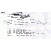 59 Ford Exploded View