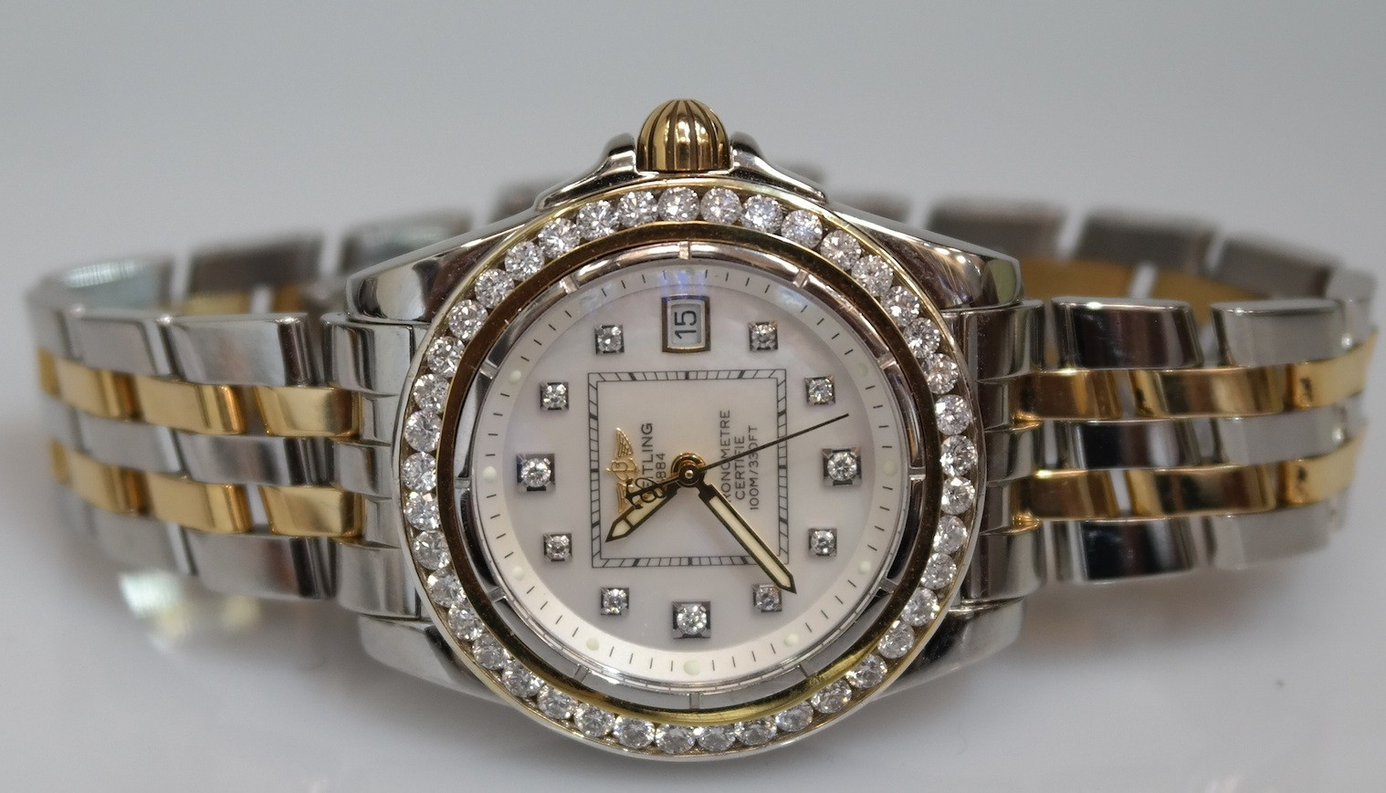 Breitling Cockpit Lady Watch, B71356, Diamond Dial and ...