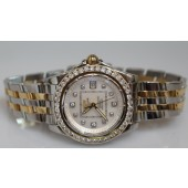 Breitling Cockpit Lady Watch, B71356, Diamond Dial and Diamond Bezel, two tone