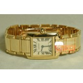 Cartier Tank Francaise Ladies 18k Yellow Gold W50002N2