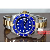 Rolex Submariner with Ceramic Blue Bezel model 16613