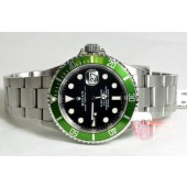 Rolex Submariner with date Green Anniversary model 16610 serial D9 mil