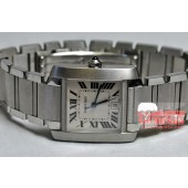 Cartier Tank Francaise Steel Automatic model W51002Q3