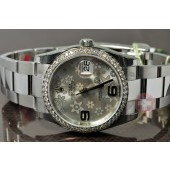Rolex Datejust with flower Dial and Rolex Diamond Bezel 2013