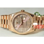 Rolex President Day - Date Rose Gold with Factory Diamond Dial model 118205