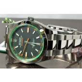 Rolex MilGauss with Green Crystal 116400 GV