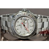 Rolex Yacht-Master Steel / Platinum with Custom Diamond hour markers
