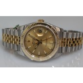Rolex Datejust Champagne Index Dial Jubilee Bracelet Two Tone  116233 with Box and Papers