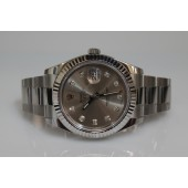 Rolex 116334 DateJust II 2 Steel/18K Gold Silver Diamond Dial Box