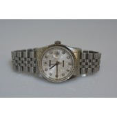 Rolex 16234 f serial, silver jubilee with diamonds