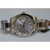 Rolex Datejust 116334 Silver Dial with blue numbers