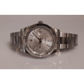Rolex Datejust II Silver Dial Fluted 18k White Gold Bezel 116334 Unworn Watch