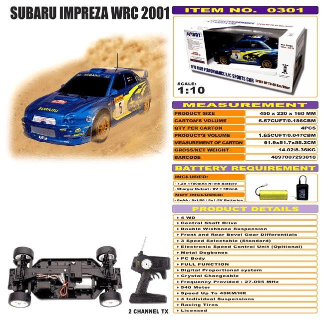 JHC0301 - Subaru Impreza WRC 2001