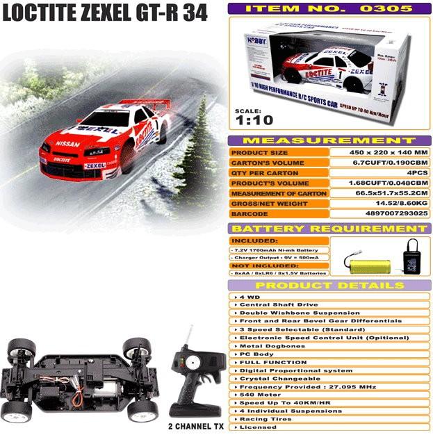 JHC0305 - Loctite Zexel GT-R 34