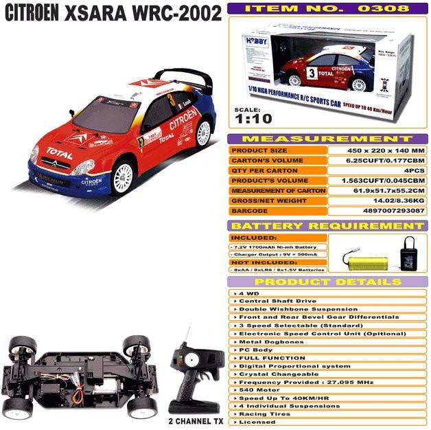 JHC0308 - Citroen XSARA WRC - 2002