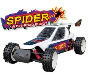 053210 Spider 2WD Off-road Buggy (2 Channel 27Mhz FM Pistol Radio)