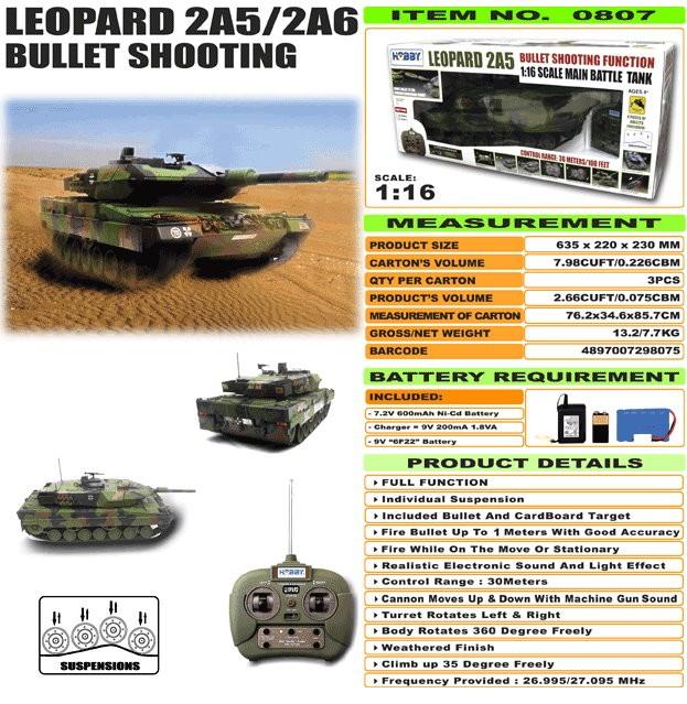 JHC0807 - Leopard 2A5/2A6 [Bullet Shooting]