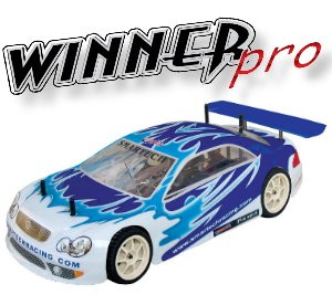 101450-1 Winner Pro 4WD On-road Car (Futaba OEM 2 Channel 27 Mhz AM Pistol Radio)