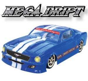 102470-1 Mega Drift 4WD Electric-powered On-road Car (CH 2.4G Digtal Pistol Radio)