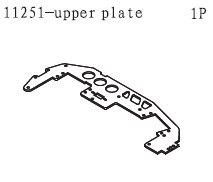 11251 Upper Chassis Plate