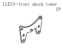 11253 Shocking Mounting Plate Front