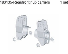 183135 Rear / Front Shaft Holder Set