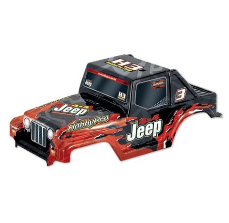 H33 1:10 Off Road Jeep Body- Black
